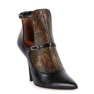 Givenchy Feminine Python & Leather Cutout Booties